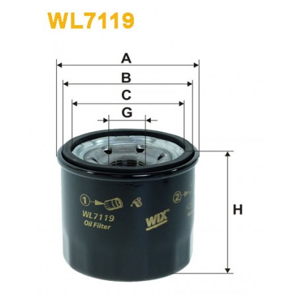Filtro aceite Wix WL7119