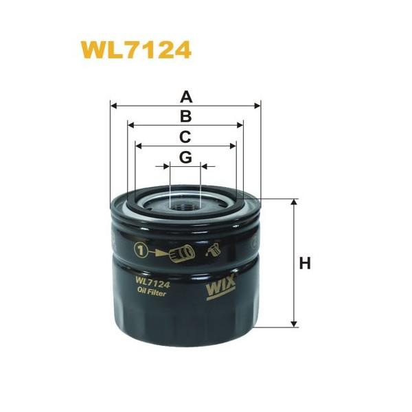 Filtro aceite Wix WL7124