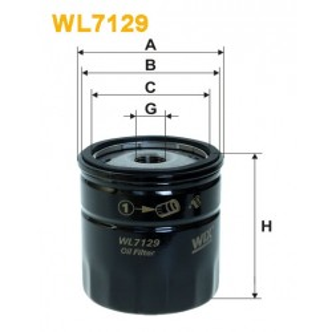 Filtro aceite Wix WL7129