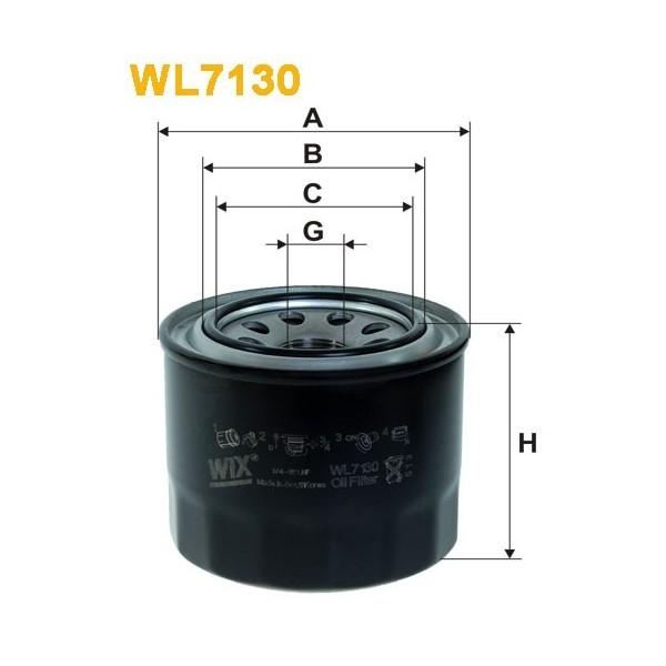 Filtro aceite Wix WL7130