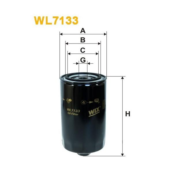 Filtro aceite Wix WL7133