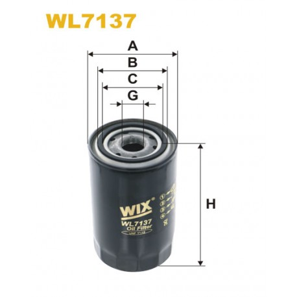 Filtro aceite Wix WL7137