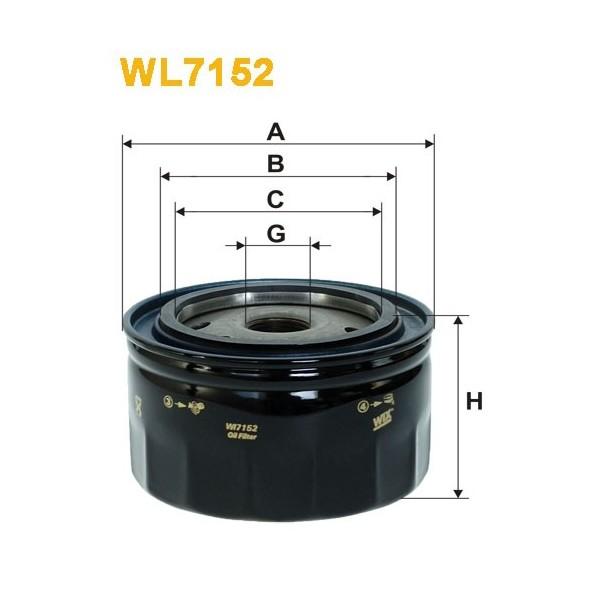 Filtro aceite Wix WL7152