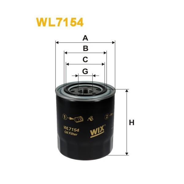 Filtro aceite Wix WL7154