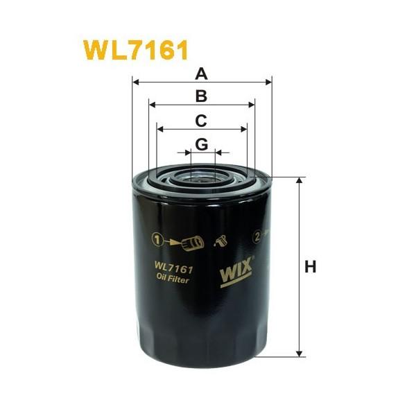 Filtro aceite Wix WL7161