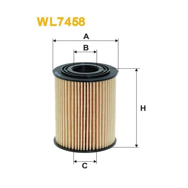 Filtro aceite Wix WL7458