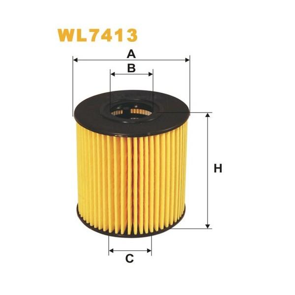Filtro aceite Wix WL7413