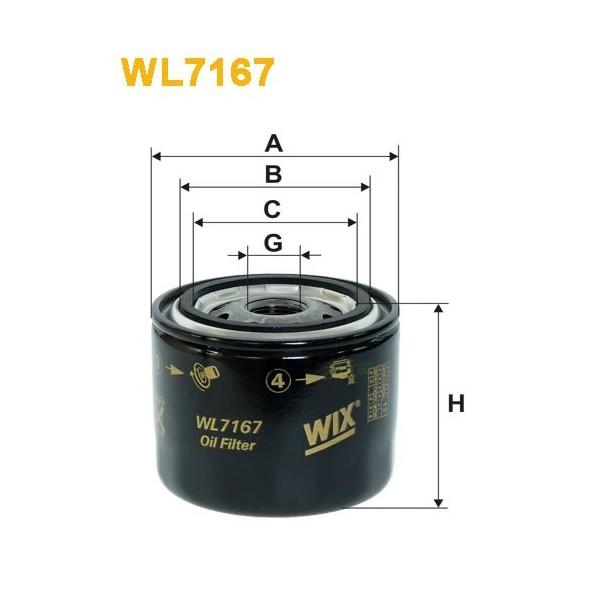 Filtro aceite Wix WL7167