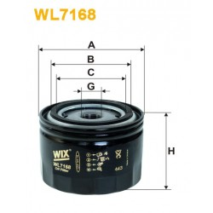 Filtro aceite Wix WL7169