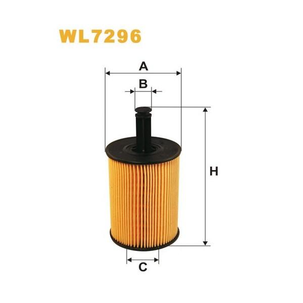 Filtro aceite Wix WL7296