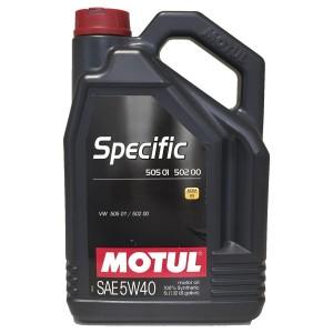 Aceite coche 5w40 Motul Specific 505.01 / 502.00 5L