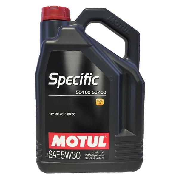 Aceite coche 5w30 Motul Specific 504.00 / 507.00 5L