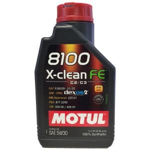 Aceite Motul 5w30 8100 X-Clean FE C3 1Ltr