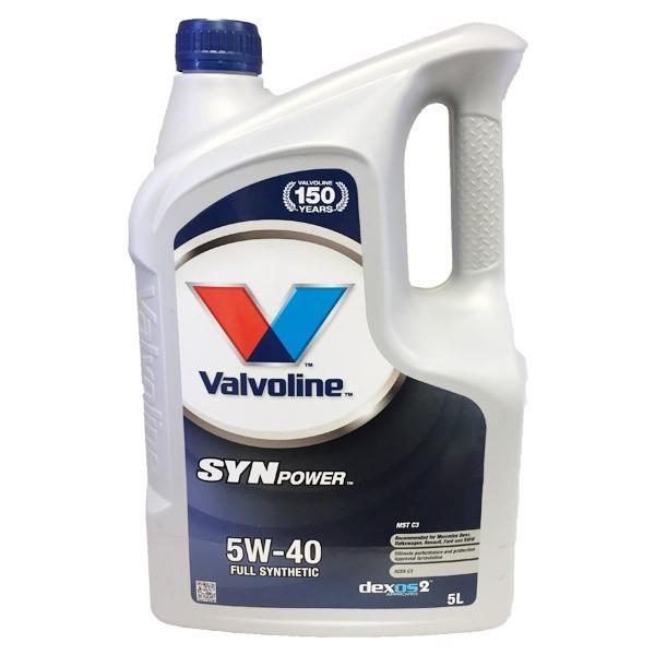 Aceite 5w40 Valvoline SYNPOWER Xtreme 5L