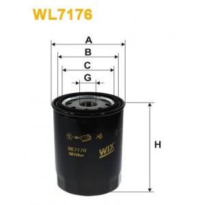 Filtro aceite Wix WL7176