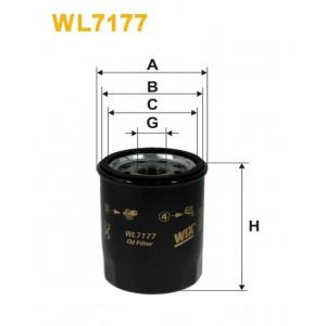 Filtro aceite Wix WL7177