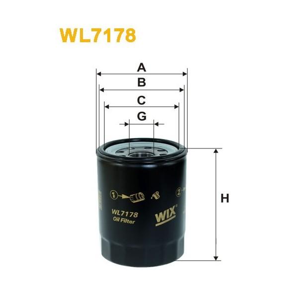 Filtro aceite Wix WL7178