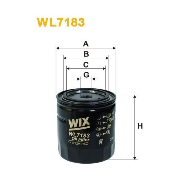 Filtro aceite Wix WL7183