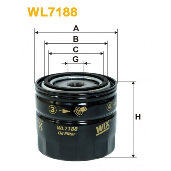 Filtro aceite Wix WL7188