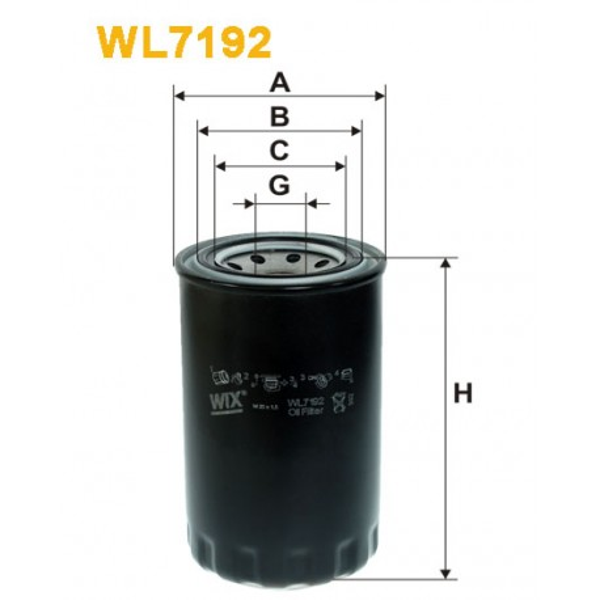 Filtro aceite Wix WL7192