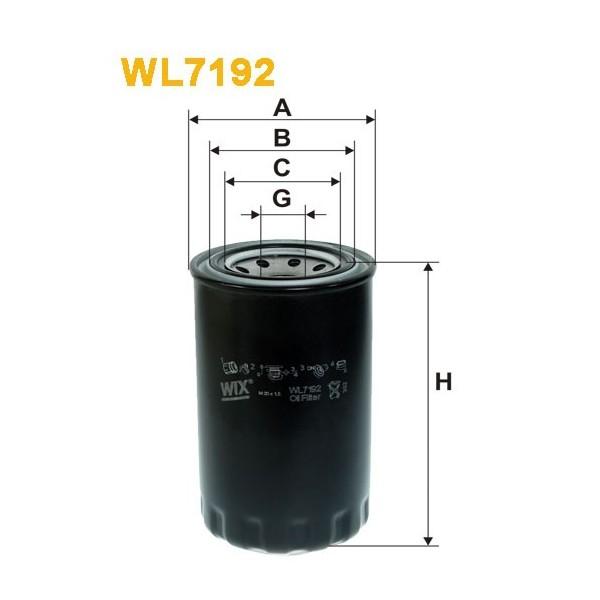 Filtro aceite Wix WL7193