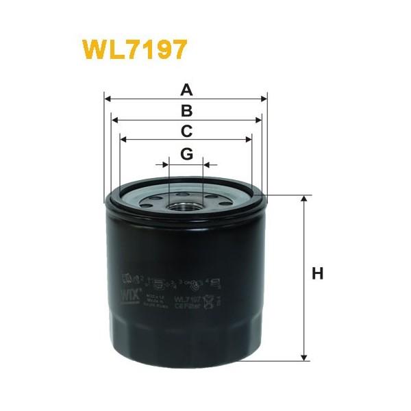 Filtro aceite Wix WL7197