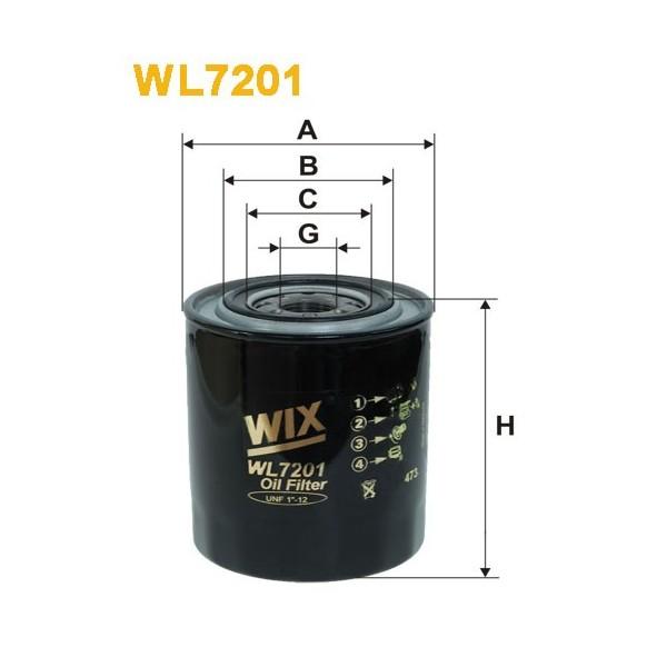 Filtro aceite Wix WL7201
