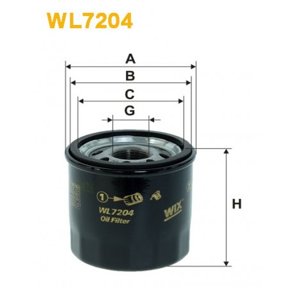 Filtro aceite Wix WL7204