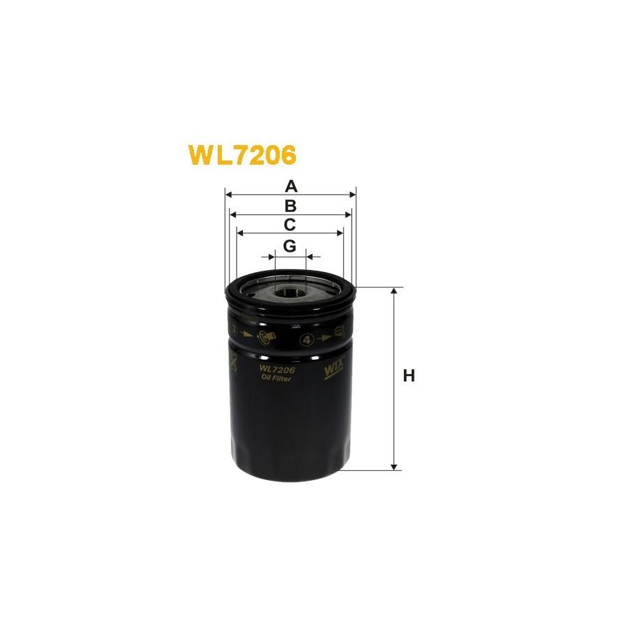 Filtro De Aceite Wix Filter WL7228