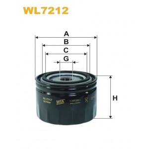 Filtro aceite Wix WL7212