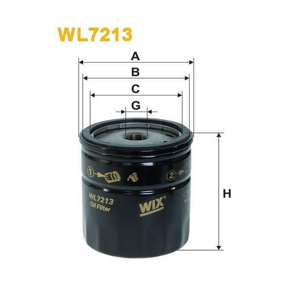 Filtro aceite Wix WL7213