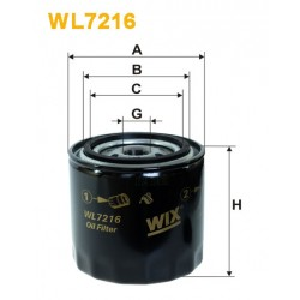 Filtro aceite Wix WL7216