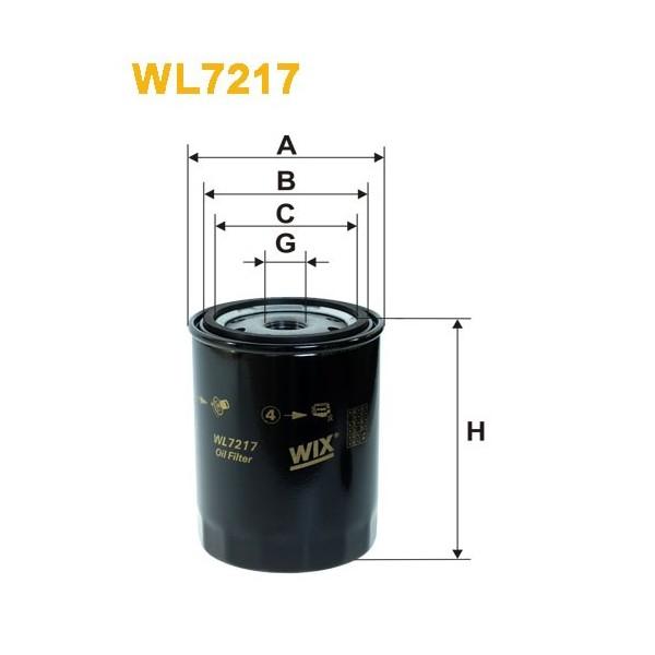 Filtro aceite Wix WL7217