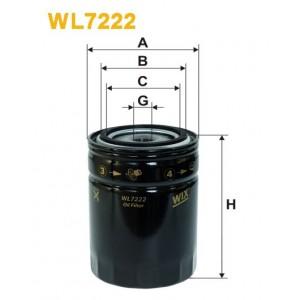 Filtro aceite Wix WL7222