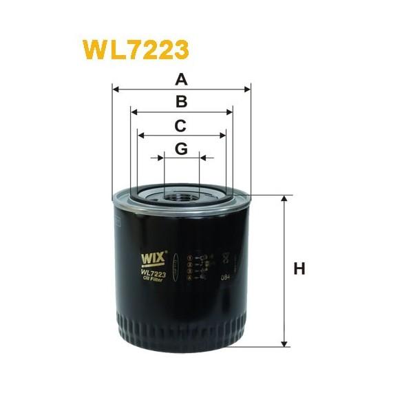 Filtro aceite Wix WL7223