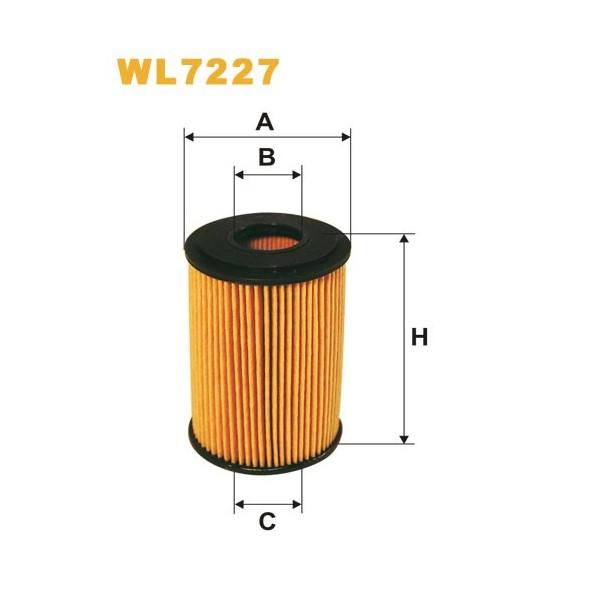 Filtro aceite Wix WL7227