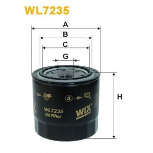 Filtro aceite Wix WL7235