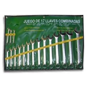 SET 17 LLAVES COMBINADAS EN PULGADA JBM