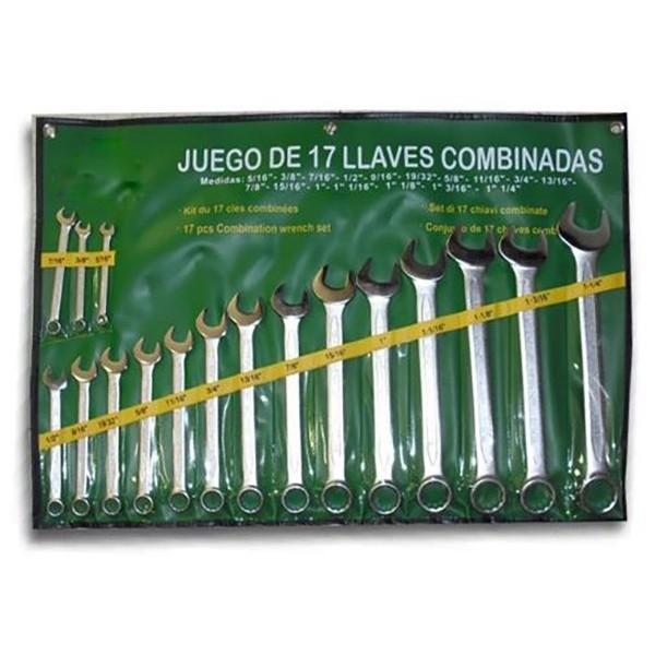 SET 17 LLAVES COMBINADAS EN PULGADA