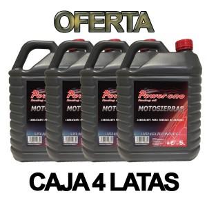 Aceite Motosierra Power-One Oferta Caja 4 Latas 5L