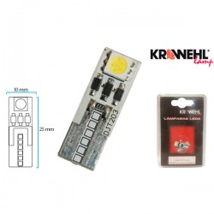 Lampara KRAWEHL T-10 2 LED BLANCO CANBUS 12V BLISTER 2 Ud