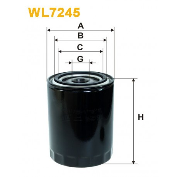 Filtro aceite Wix WL7245