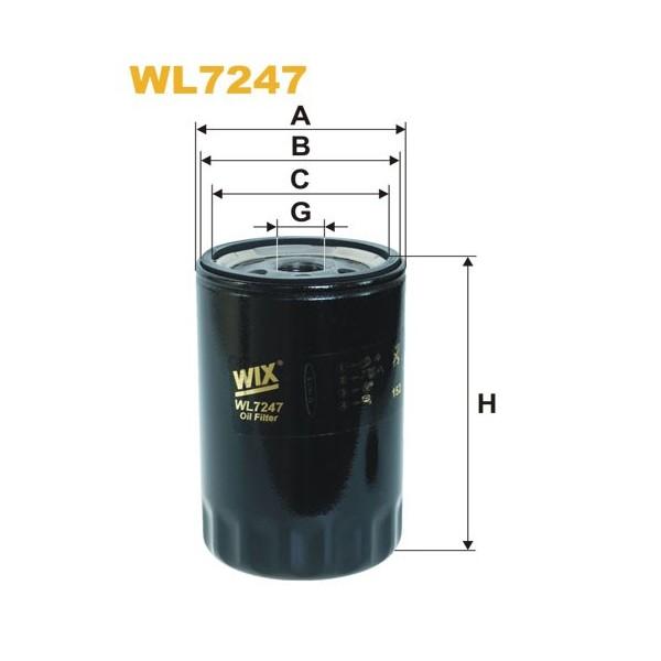 Filtro aceite Wix WL7247