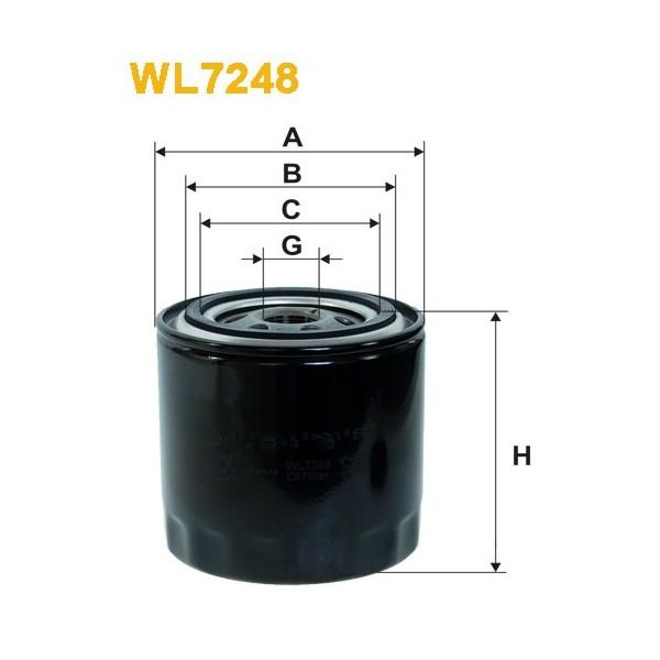 Filtro aceite Wix WL7248