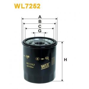 Filtro aceite Wix WL7252