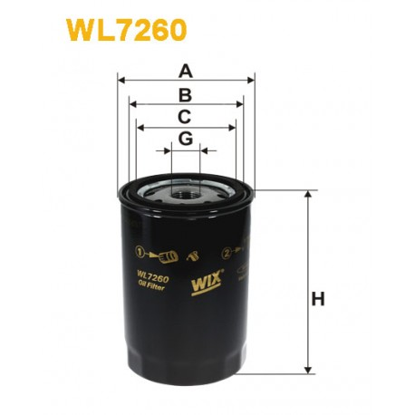 Filtro aceite Wix WL7260