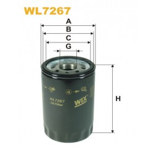 Filtro aceite Wix WL7267