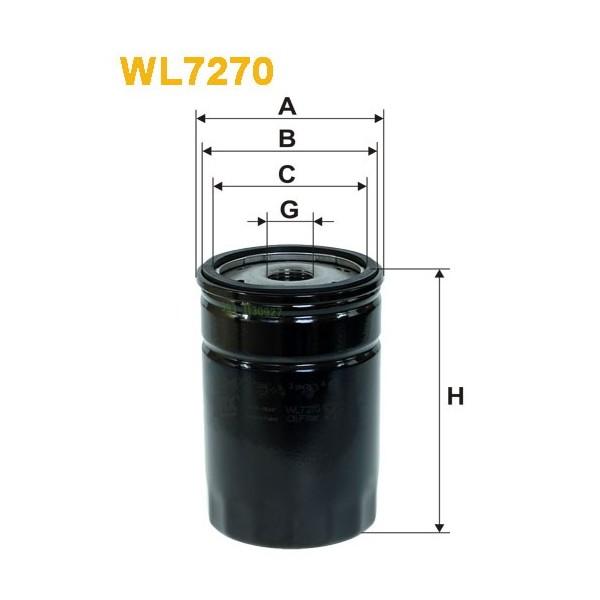 Filtro aceite Wix WL7270