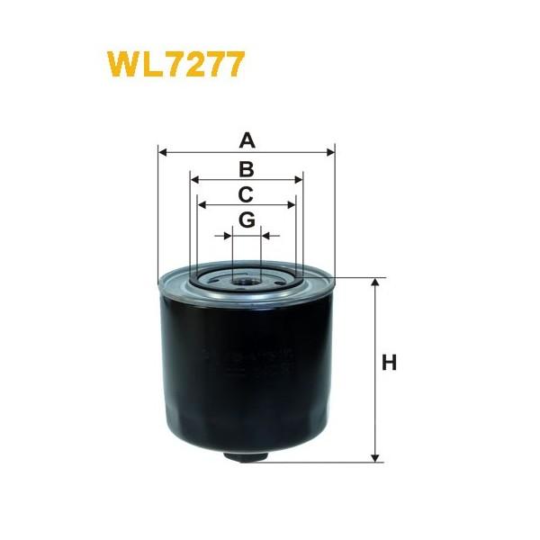 Filtro aceite Wix WL7277