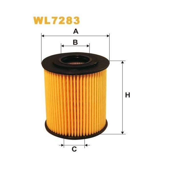 Filtro aceite Wix WL7283
